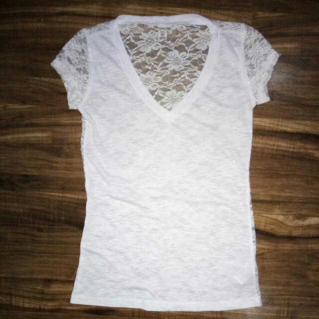 SWS LACE TEE