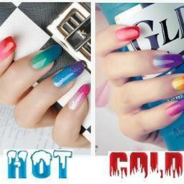 TEMPERATURE CHANGE GEL POLISH - NEW HOT AND COLD COLOURS FOR NAIL ARTISTS