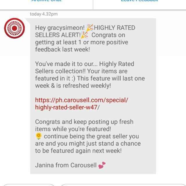 1st, Thanks CAROUSELL..!😇