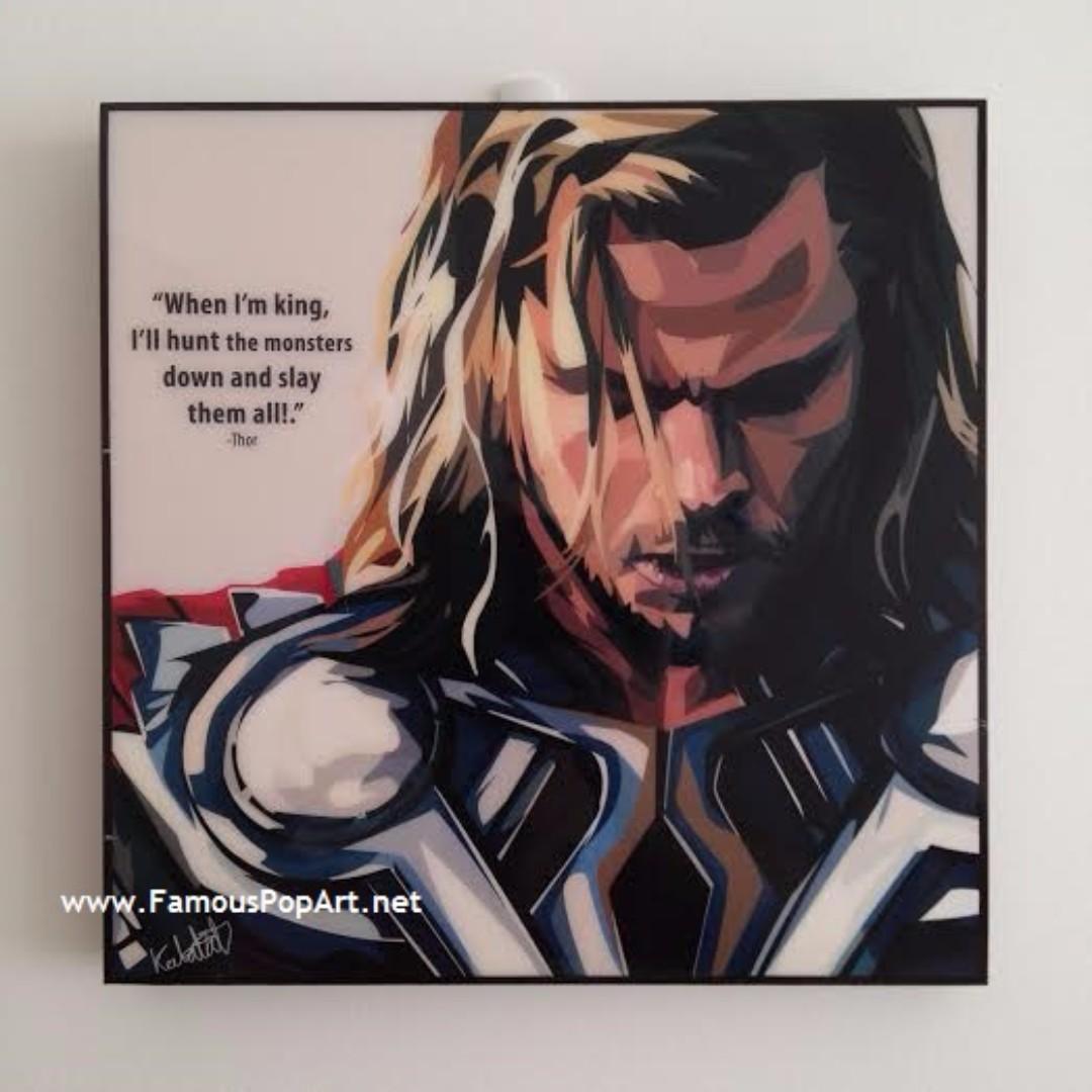 Thor PopArt! Portrait Wall Decoration Pop Art