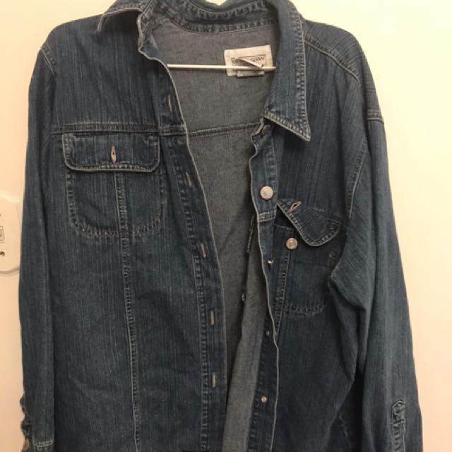 thrifted Jean shirt