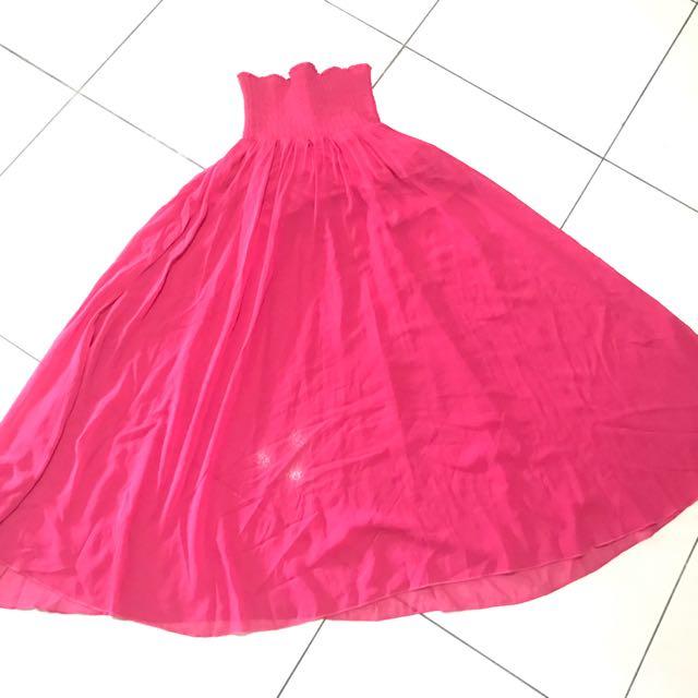 Tube Dress Chic Simple Magenta