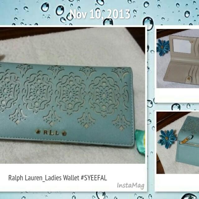 Turquoise light  Slim Wallet by Ralph Lauren
