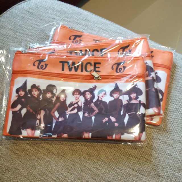 TWICE DOUBLE ZIP PENCIL CASE ~ READY STOCK