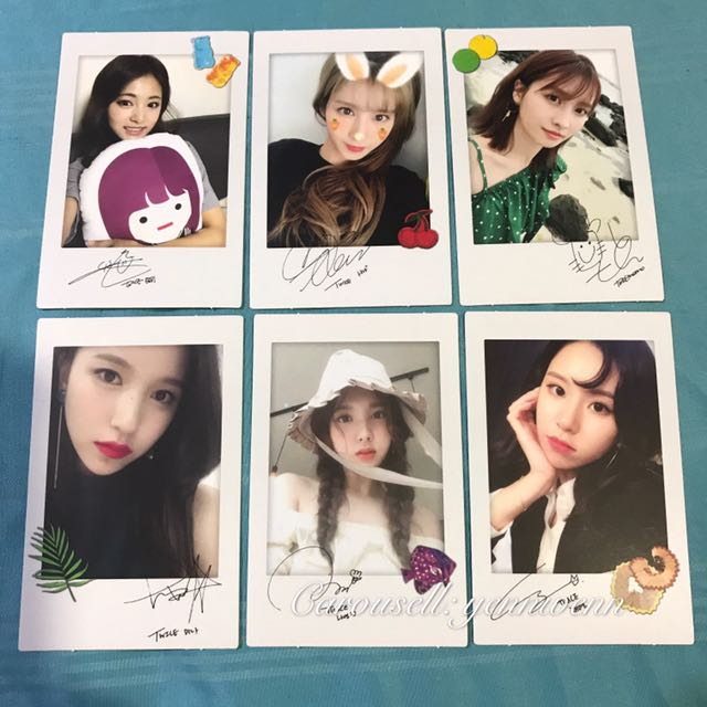 Twice Twicetagram Official Polaroid Version Photocard