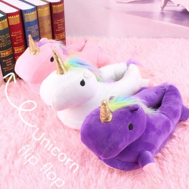 Unicorn slippers flipflops