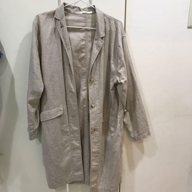 Uniqlo 薄襯衫外套 風衣