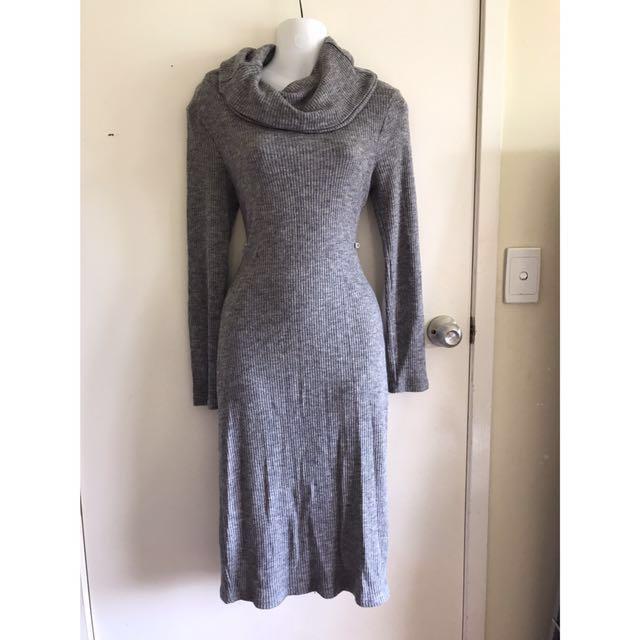 Valleygirl roll neck grey winter dress size 8