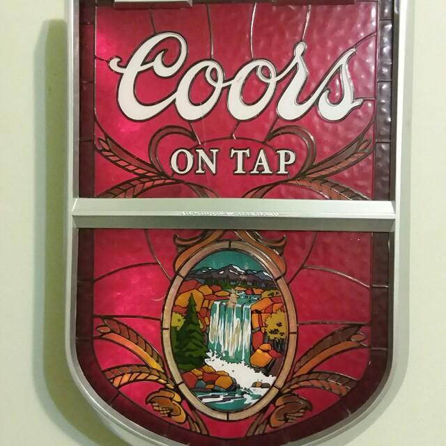 Vintage Coors Light Up Beer Sign