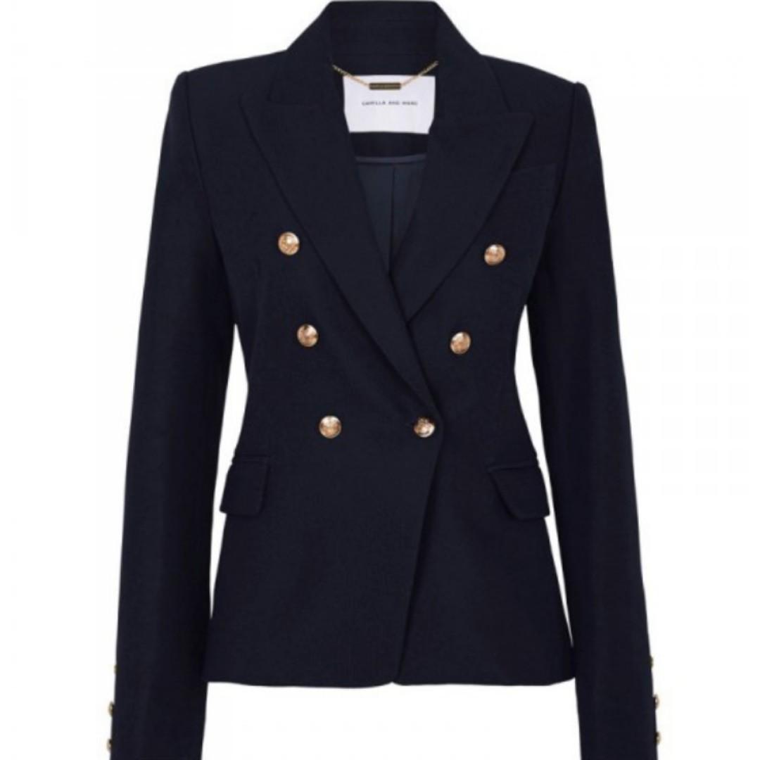 WANTED Camilla & Marc Dimmer Blazer Black/Navy Size 8-10
