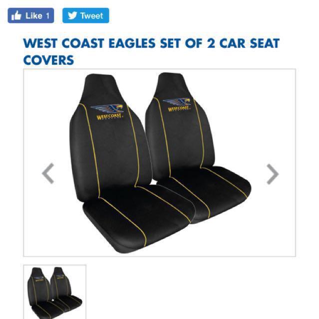 West Coast Eagles Car Seat Covers