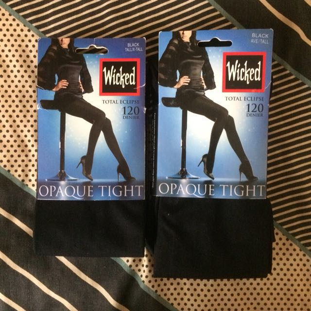 Wicked Opaque black tights