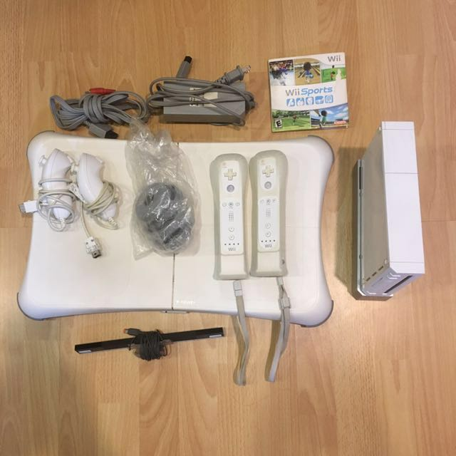 Wii Console (White) + Wii Balance Board and MORE!
