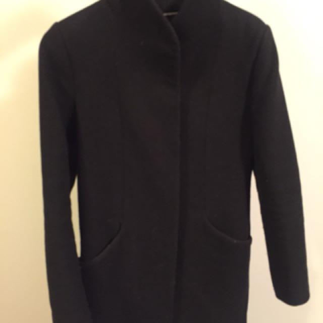 Wilfred Cocoon Wool Coat - Black XS