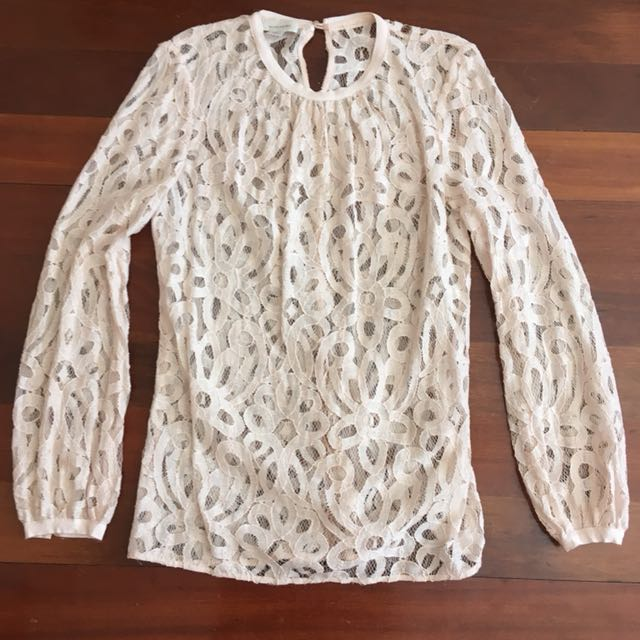 Witchery Pale Pink Lace Top