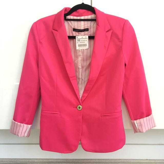 Zara Hot Pink Jacket Size XS