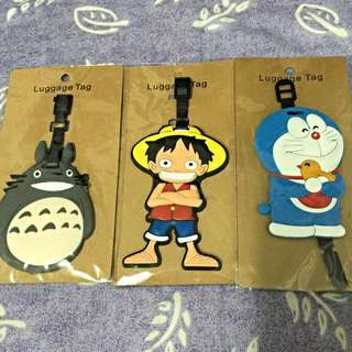 Luggage Tag (Totoro, Doraemon, One Piece Luffy) - Rubber Material