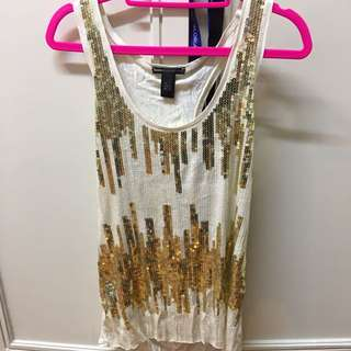 MANGO sequined top size L