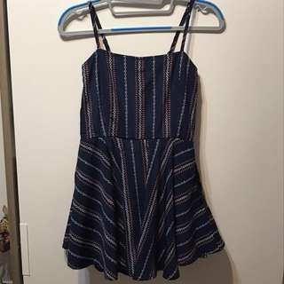 🚚 BNIP Tribal Print Navy Romper Dress