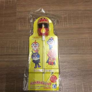 「日本帶回 」麵包超人博物館限定品,寶特瓶專用吸管頭 日本製