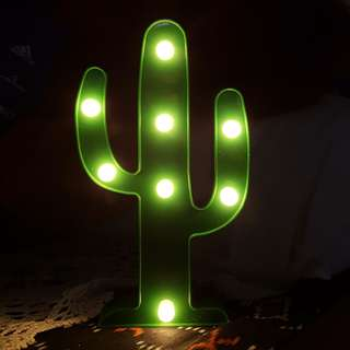 LED LIGHT LAMP / LAMPU TUMBLR CACTUS