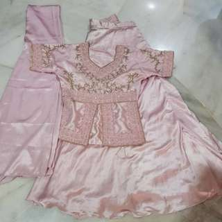 Kids Sweet Pink Lengha Suit from India