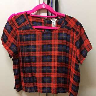 FOREVER 21 Red flannel tshirt size M