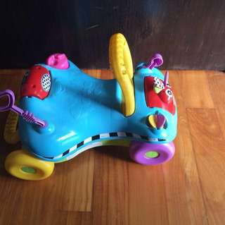 Buggy car (4-wheel) and push toy (walker) 2-in-1