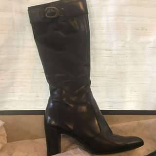 Enzo Angiolini Black leather boots  Sz 7