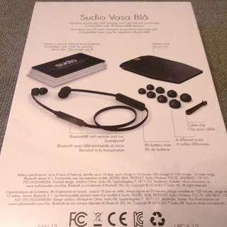 (全新 New) 無綫耳機 Sudio Vasa Bla Bluetooth (Black or Pink)