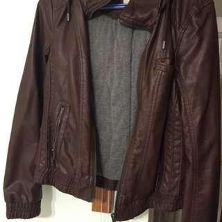 Garage Brown Leather Jacket