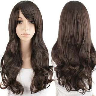 Ready stock Free Postage Dark Brown Cosplay Wig