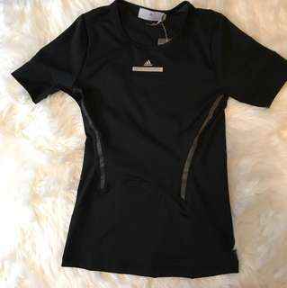 Adidas x Stella McCartney black running tee