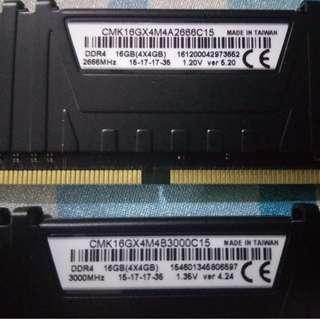 16GB (4 x 4GB) Corsair Vengeance LPX DDR4-3000 Desktop RAM