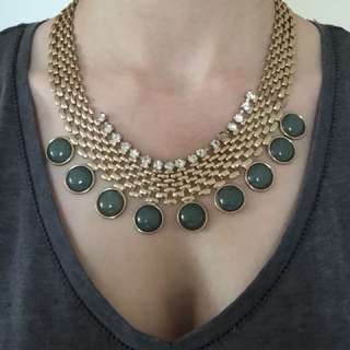 Statement Crystal and Stone Necklace