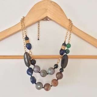 Multicoloured Stone Statement Necklace