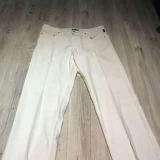 Versace白色長褲