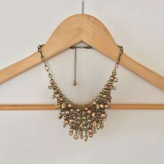 Statement Jewel and Crystal Necklace