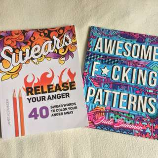Adult Colouring Books - Swears and Patterns