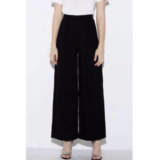 High-waisted wide leg pants - Giordano Ladies