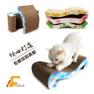 """*芳之香戀*【升级版】""""鲜花系列"""" 瓦楞纸貓床/貓抓板/貓玩具 (附貓薄荷) 寵物用品 寵物外出包 水氧機"""