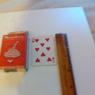 """2.5"""" miniature playing cards"""
