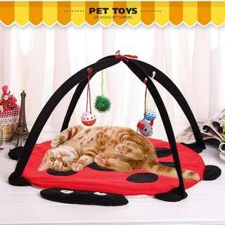 🚚 *芳之香戀香氛館*~貓咪專屬的樂園~出口日本可折疊貓帳篷貓玩具 貓窩 貓床 貓咪樂園 寵物用品
