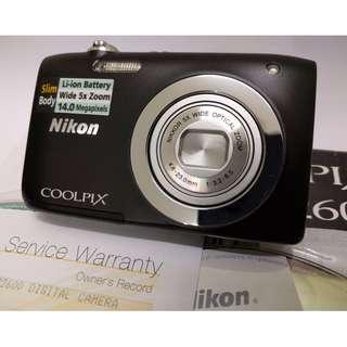 Nikon Coolpix S2600 14MP 5x Optical Zoom Camera