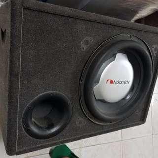 中道12寸超低音$1,500可試  12寸JBL $900  ALS693連kenwood ps150後级  $2,000