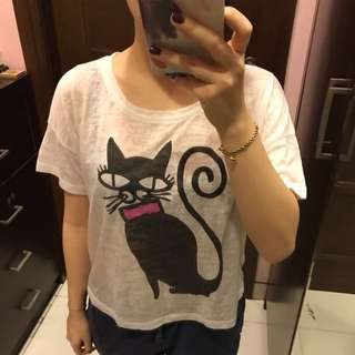 F21 BlackCat Top