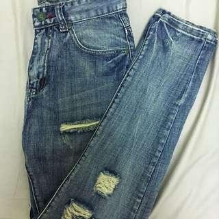 破褲牛仔褲(29腰)
