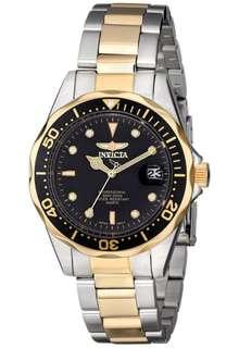 invicta Mens Pro Diver Two-Tone Watch