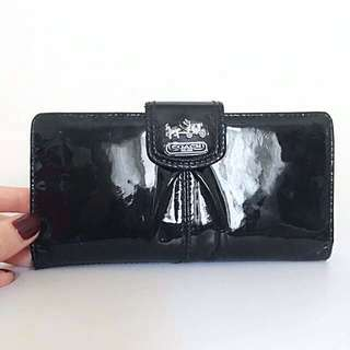 AUTHENTIC Coach Patent Black Wallet