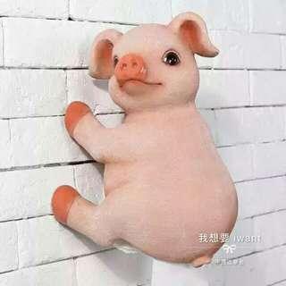 🚚 我想要🔸萌萌豬創意壁掛捲筒衛生紙架 防水浴室衛生紙架